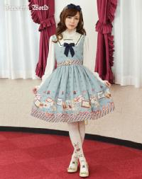 Rabbit Letter Jumperskirt with a sailor collar