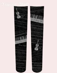 Musical instrument pattern Over Knee socks